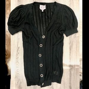 Juicy Couture Knit ShortSleeve Button Down Sweater